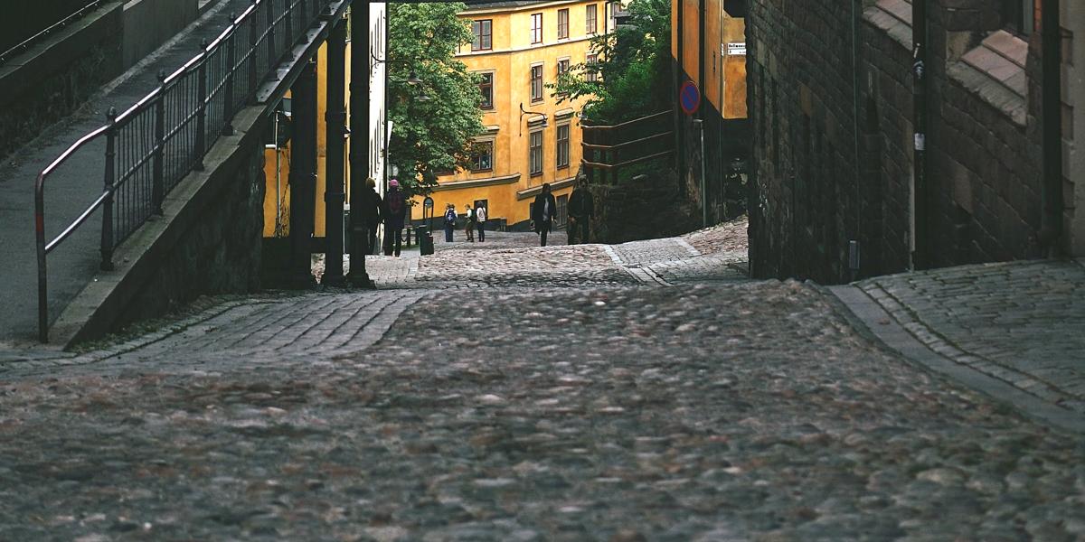 En stenlagd väg